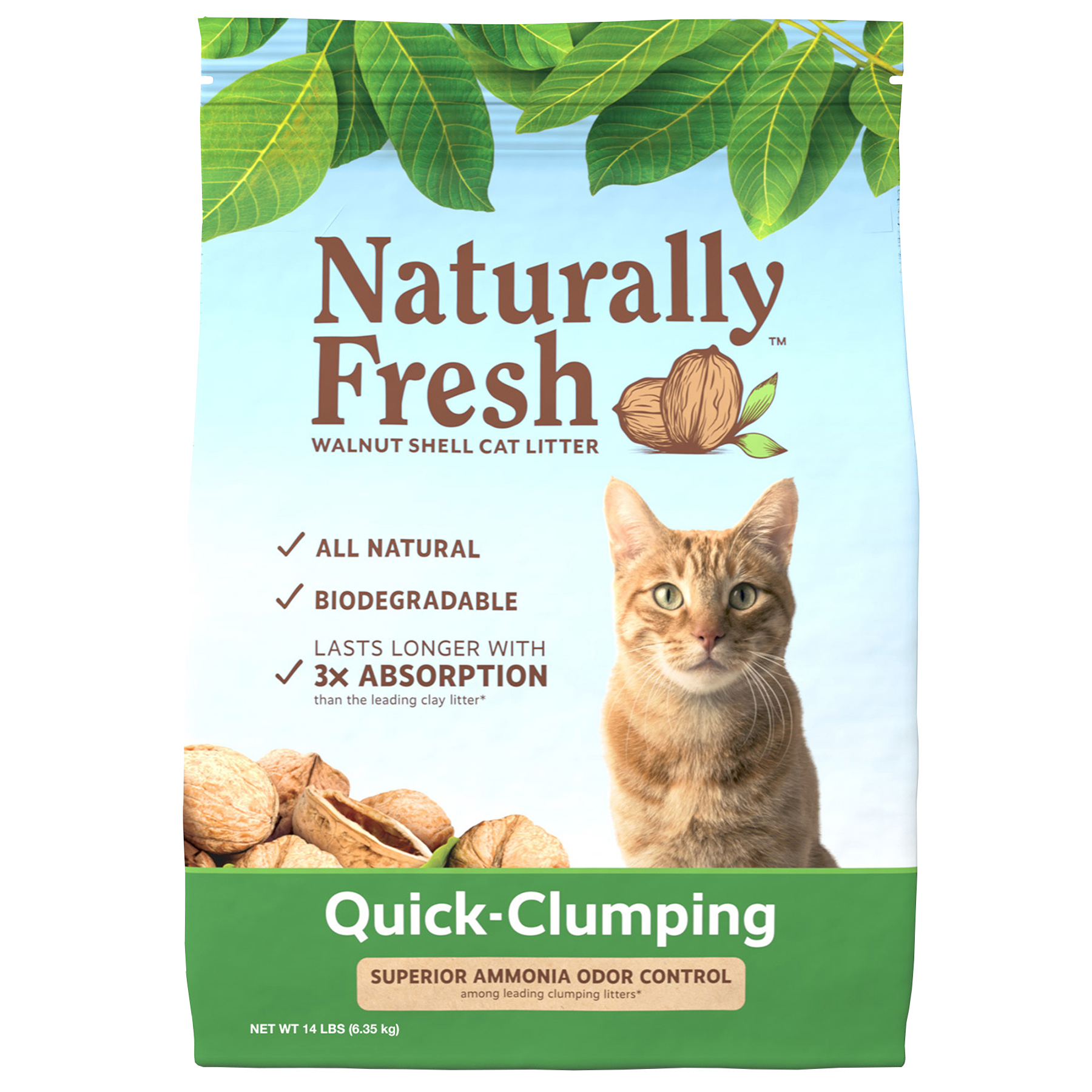 Naturally Fresh Walnut-Based Quick-Clumping Cat Litter, 14-lb bag