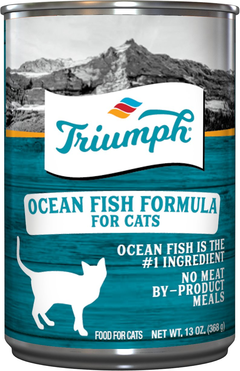 Triumph Ocean Fish Formula Canned Cat Food, 13.2-oz