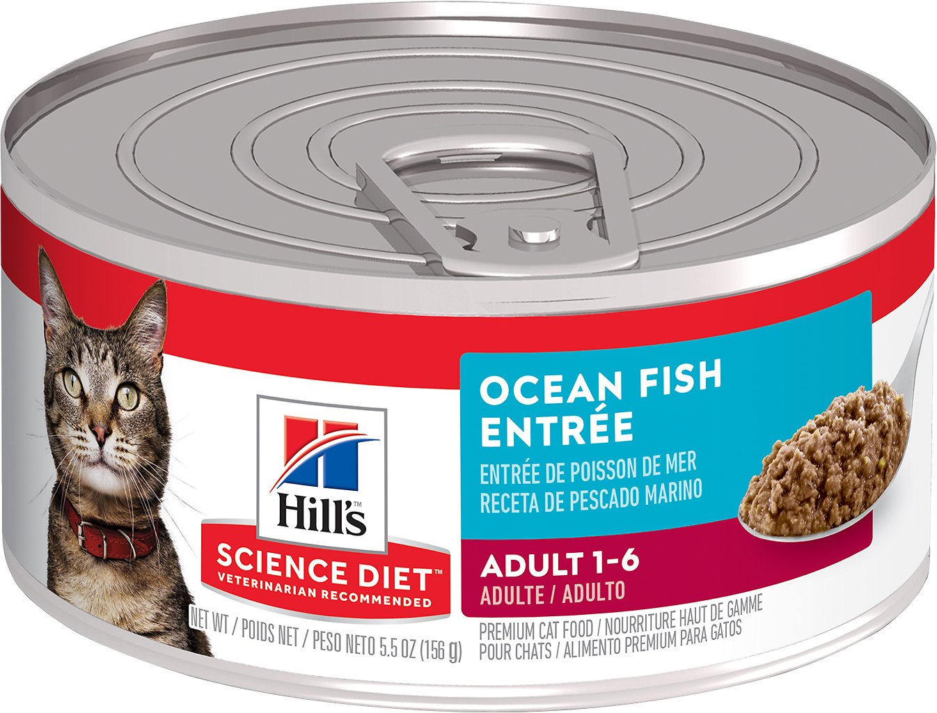 Hill's Science Diet Adult Ocean Fish Entree Canned Cat Food, 5.5-oz