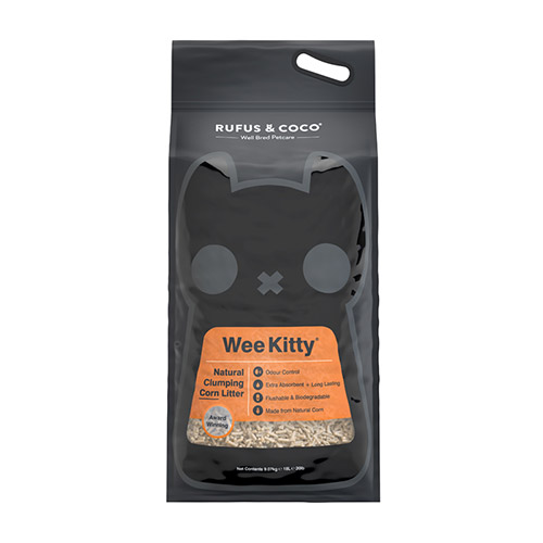 Rufus & Coco Wee Kitty Clumping Corn Cat Litter, 20-lb