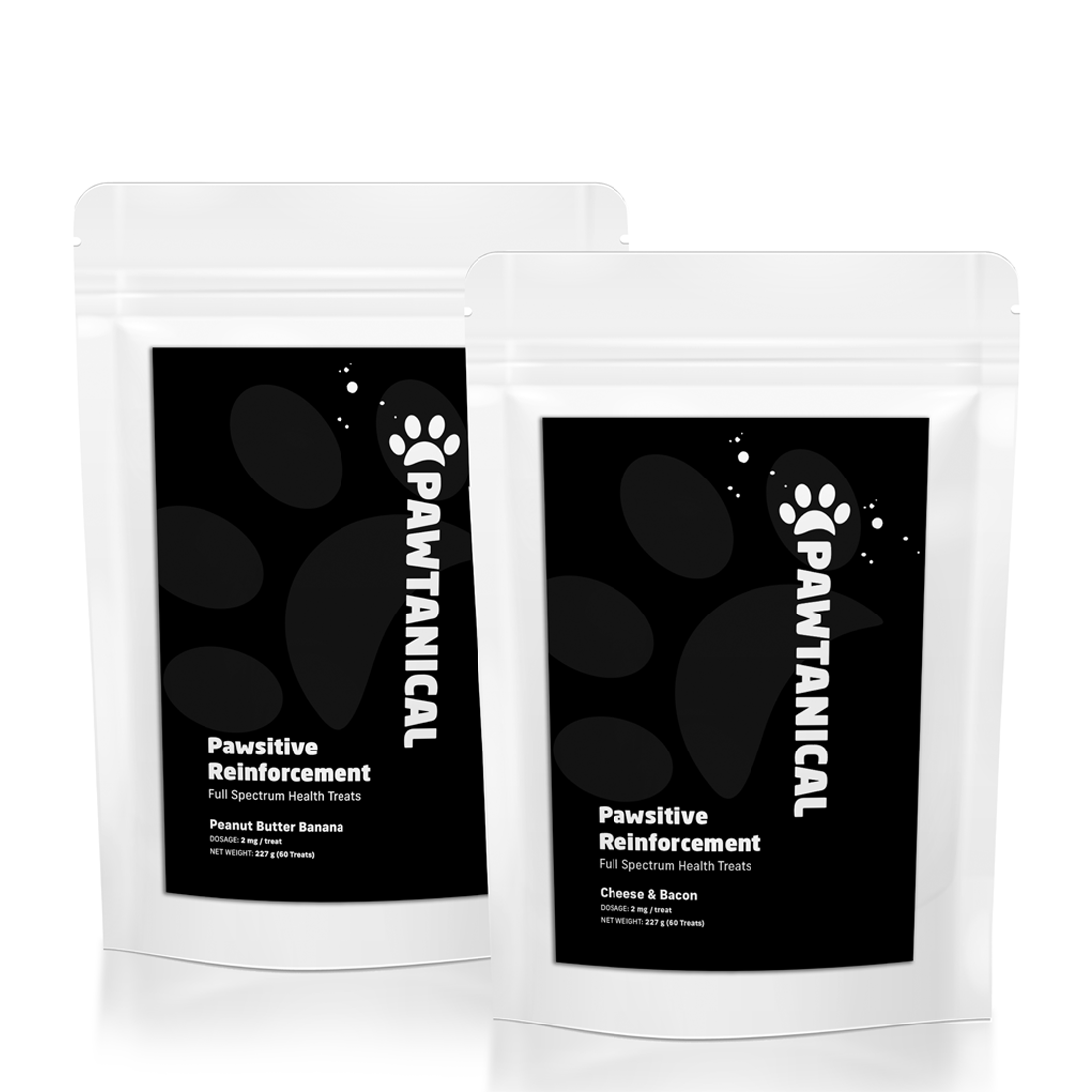 Pawtanical Pawsitive Reinforcement Peanut Butter & Banana Dog Treats, 60-count