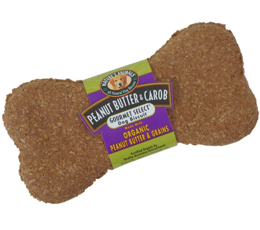 Nature's Animals Gourmet Select Peanut Butter & Carob Organic Dog Treats Image