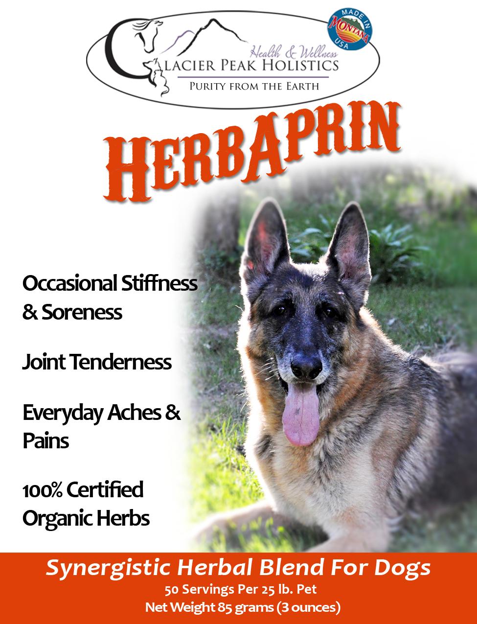 Glacier Peak Holistics HerbAprin Powder Dog Supplement, 12-oz