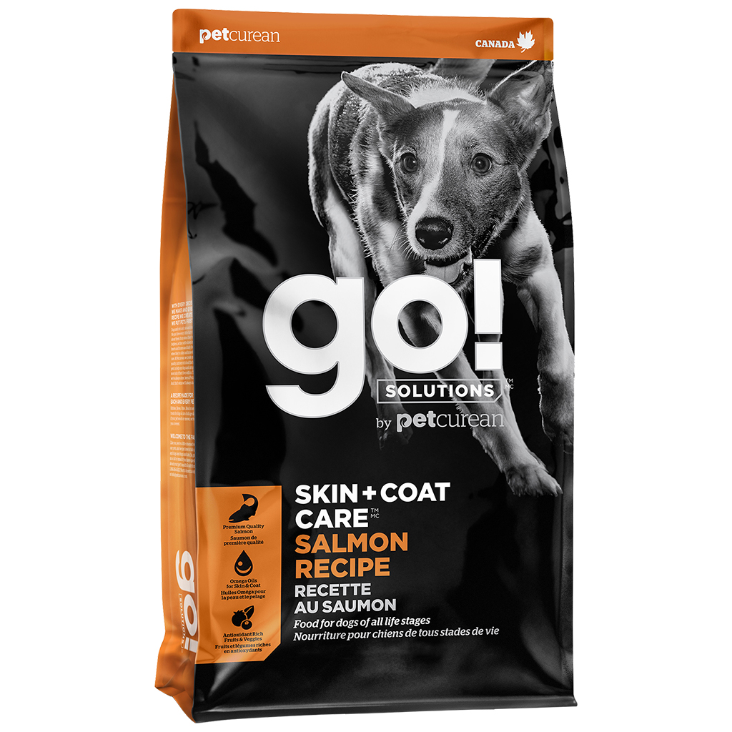 Petcurean Dog Go! Solutions Skin + Coat Care Salmon Dry Dog Food, 25-lb
