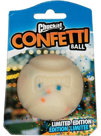 Chuckit! Confetti Ball Dog Toy, Medium