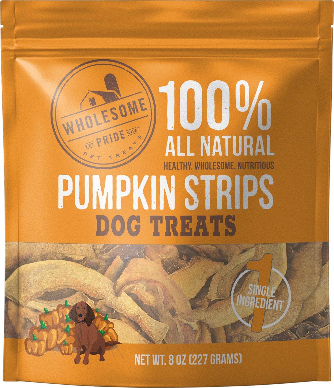 Wholesome Pride Pet Treats Pumpkin Strips Dog Treats, 8-oz