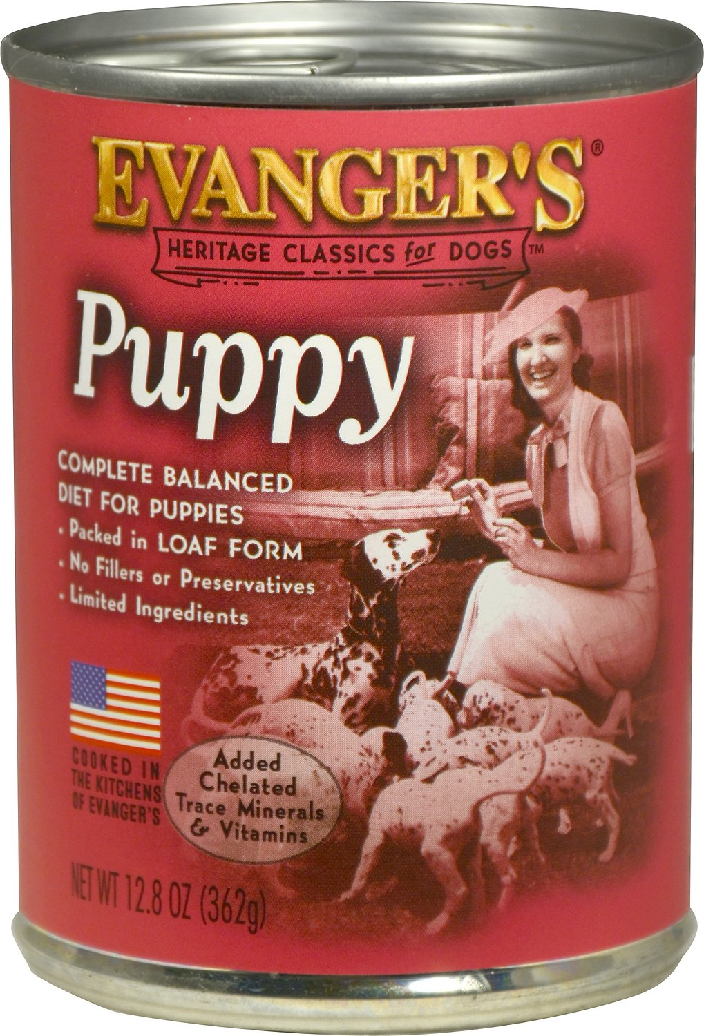 Evanger's Classic Recipes Puppy Canned Dog Food, 12.8-oz