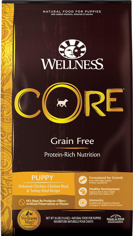 Wellness CORE Grain-Free Puppy Chicken & Turkey Dry Dog Food, 26-lb