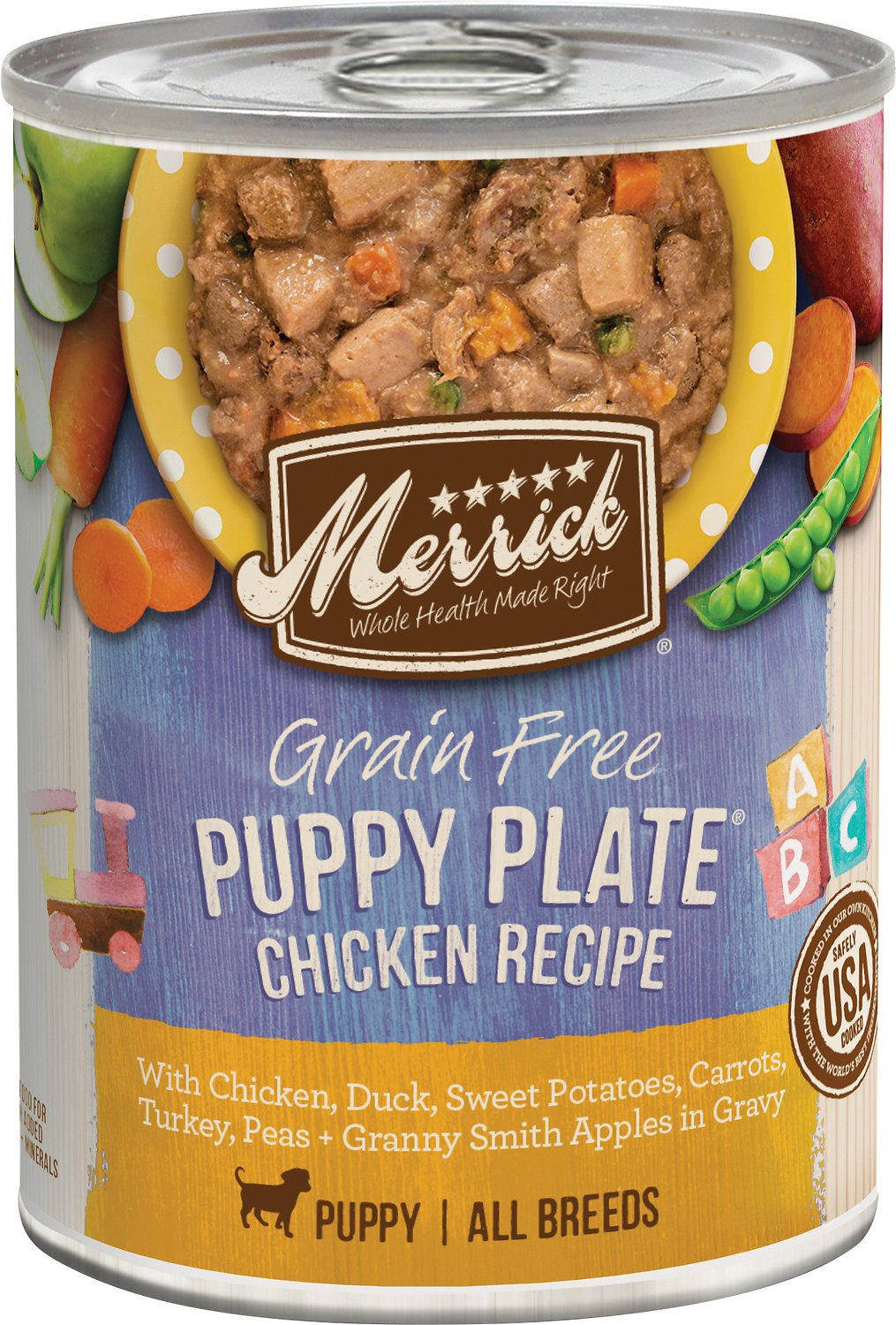Merrick Puppy Plate Chicken Recipe Wet Dog Food, 12.7-oz