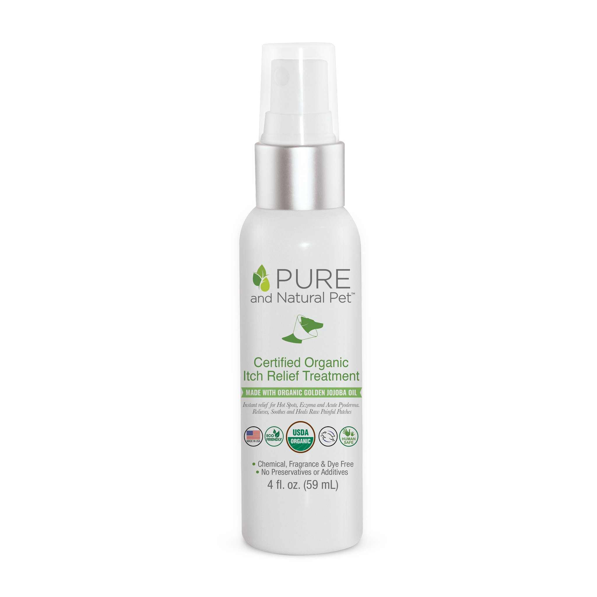 Pure and Natural Pet Certified Organic Itch Relief Treatment for Pets, 2-oz