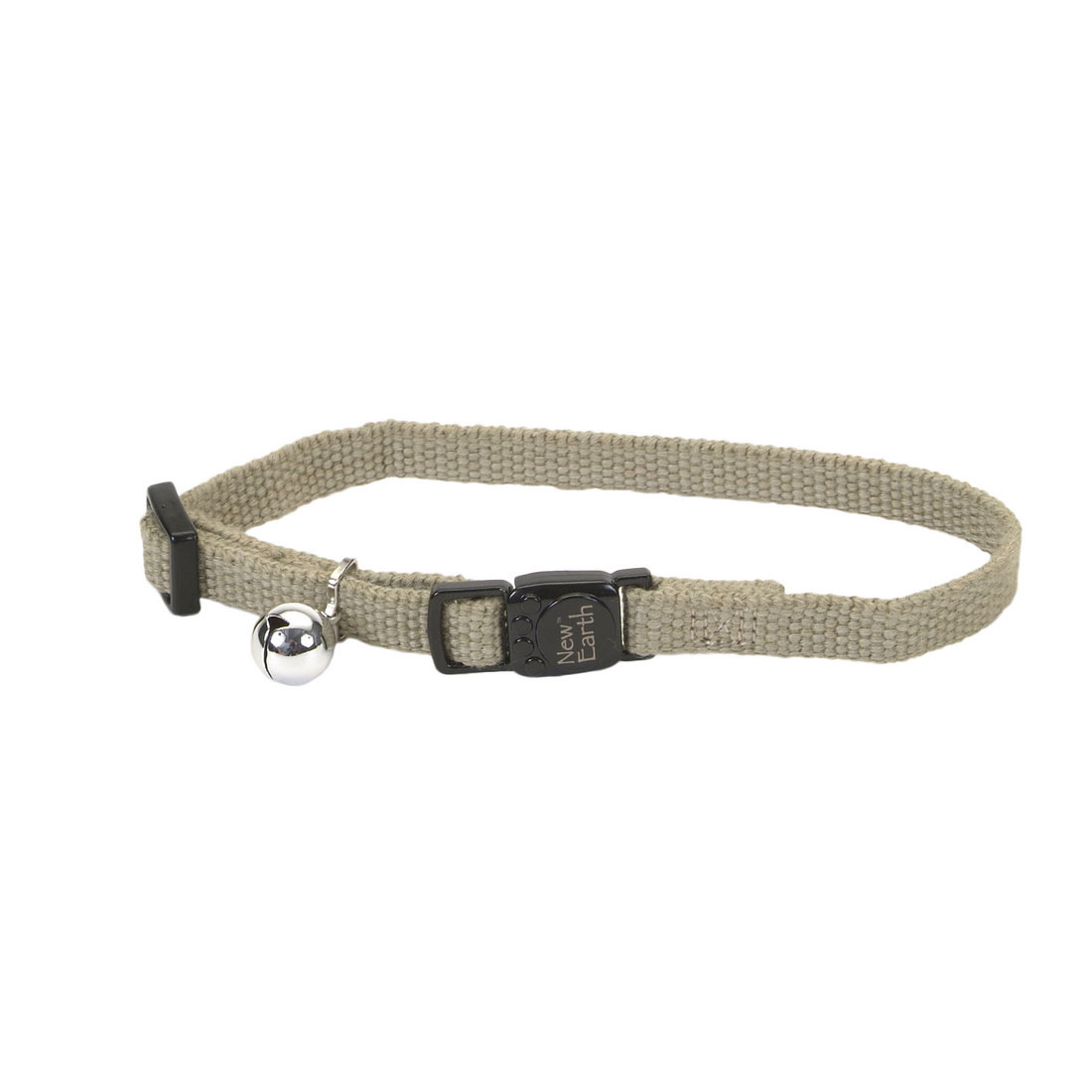 Coastal New Earth Soy Adjustable Breakaway Cat Collar, Olive, 8-12-in (Size: 8-12-in) Image