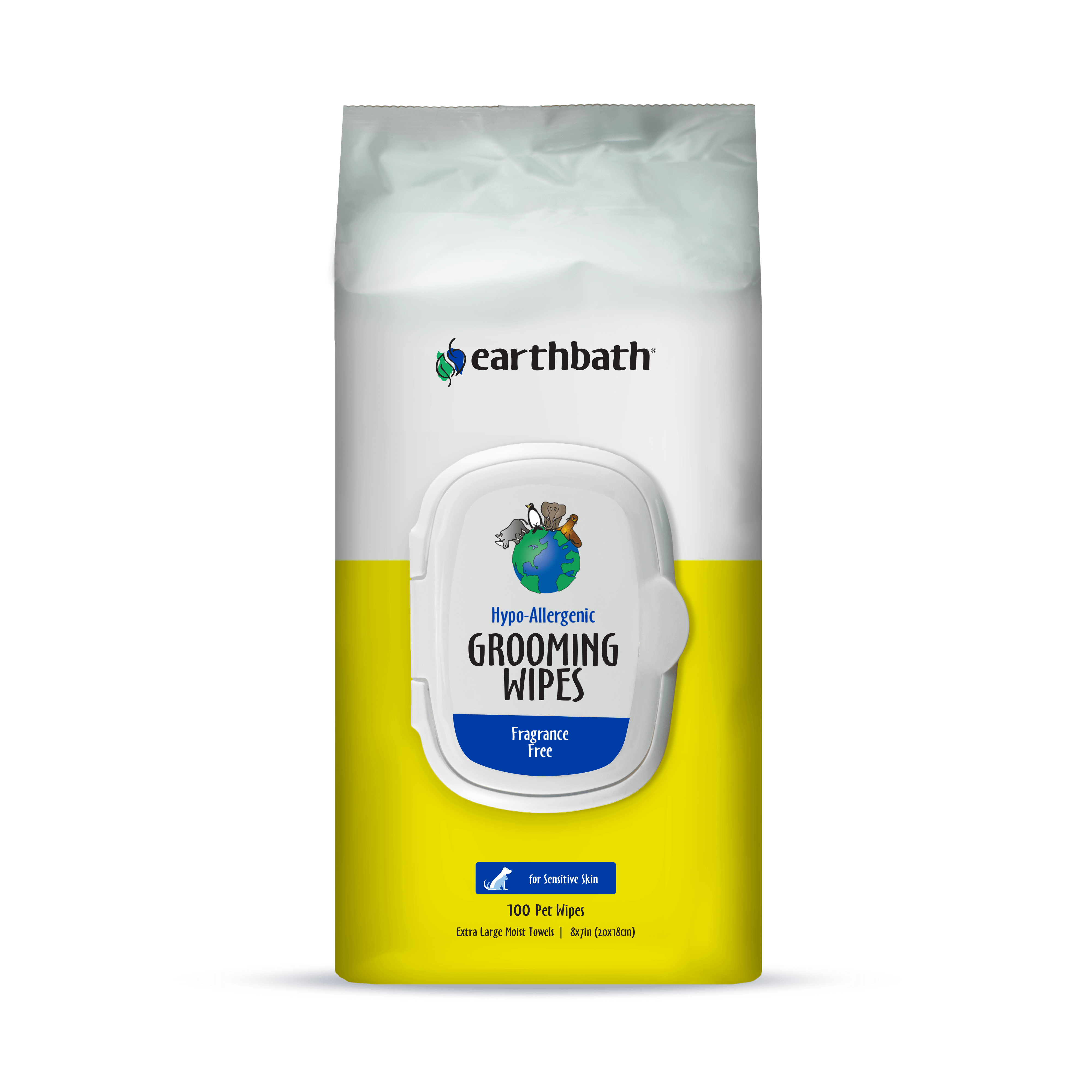 Earthbath Hypo-Allergenic and Fragrance Free Grooming Wipes Image