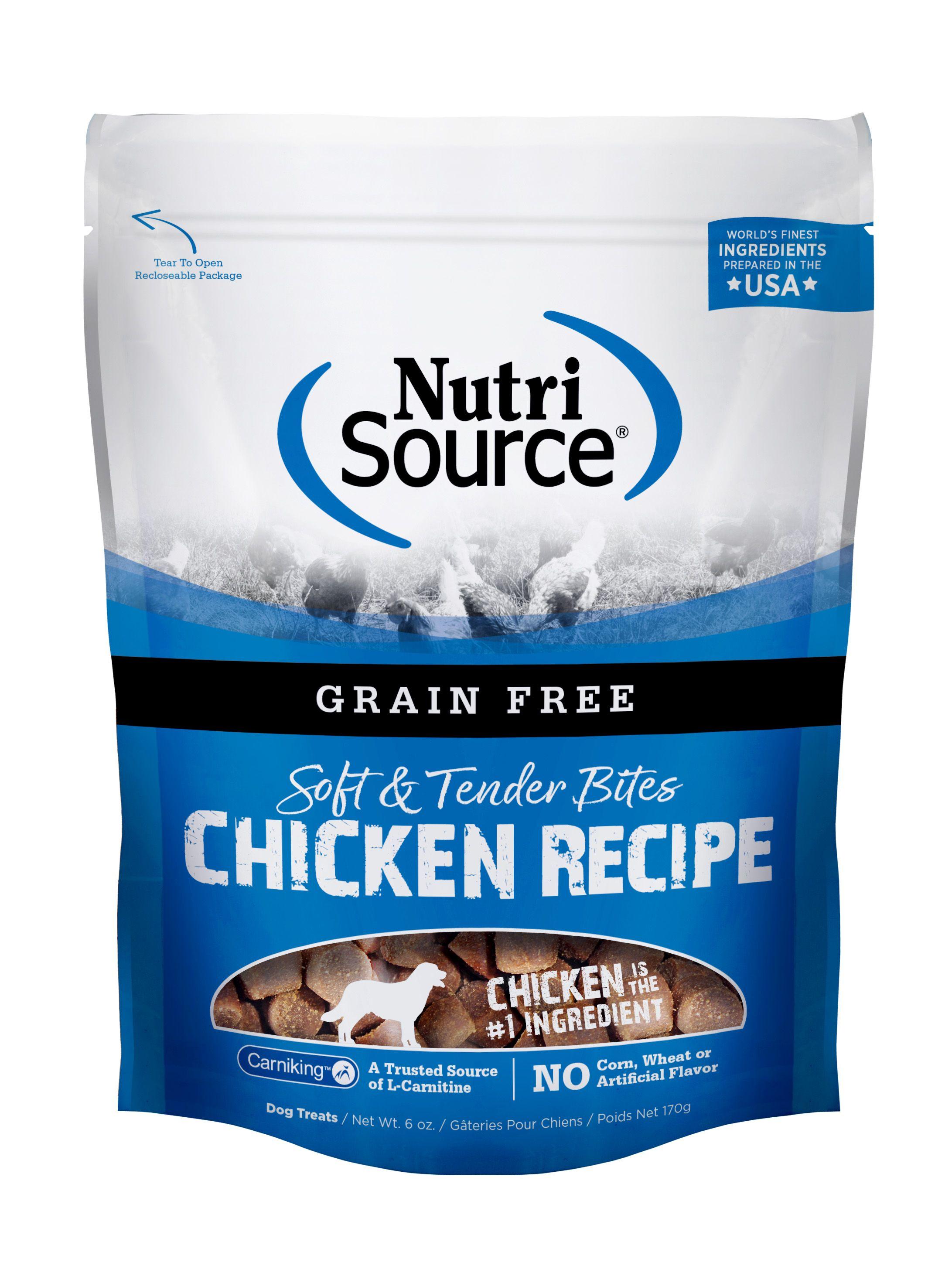 NutriSource Grain Free Bites Chicken Dog Treats, 6-oz