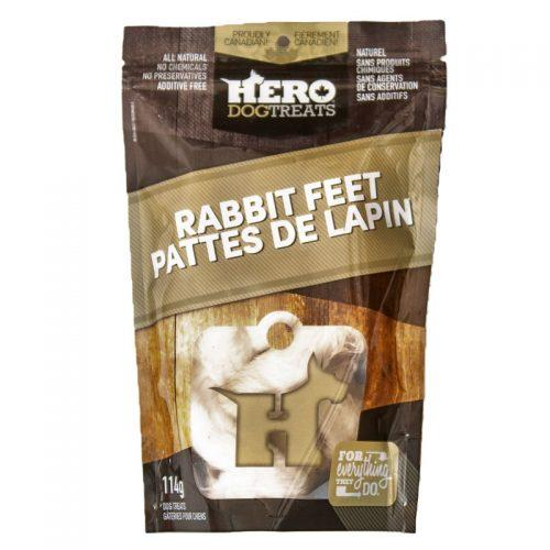 HeroDogTreats Rabbit Feet Dog Treats, 114-gram