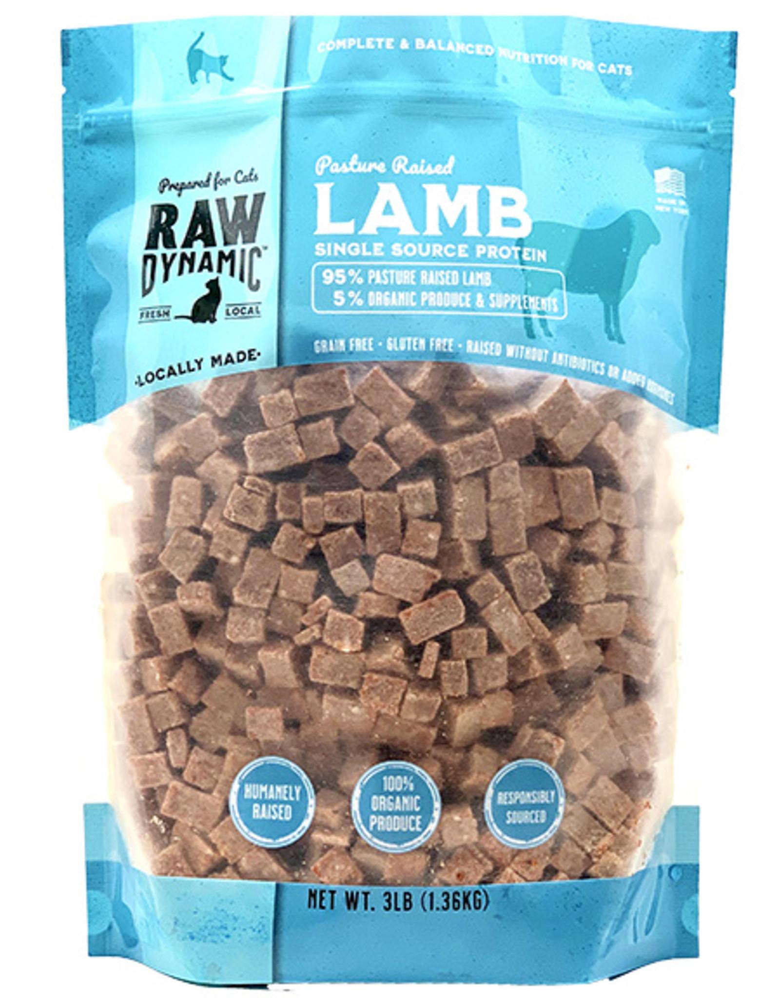Raw Dynamic Lamb Formula Raw Cat Food, 3-lb