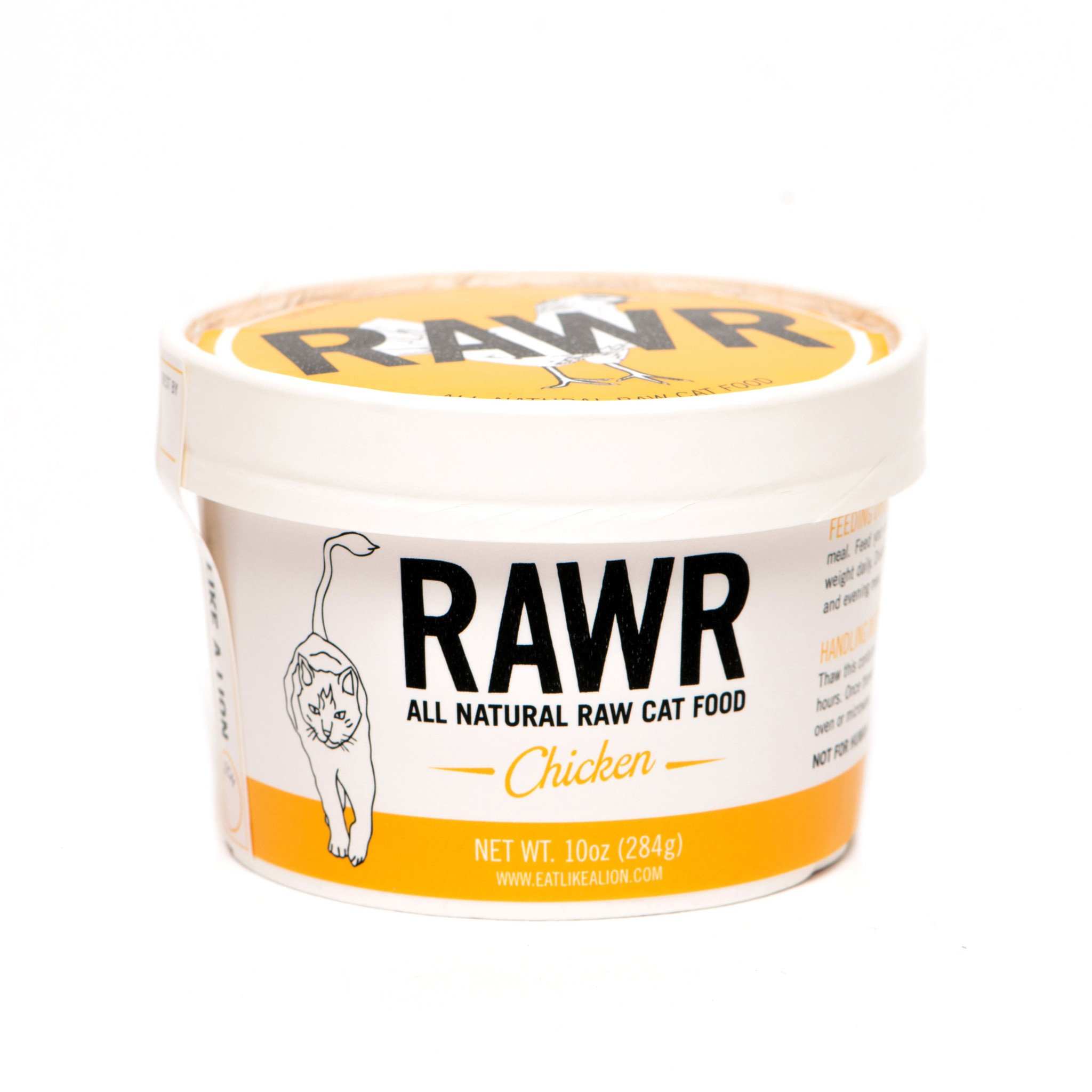 RAWR All Natural Chicken Raw Frozen Cat Food, 8-oz