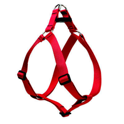 Lupine Pet Basic Solids Step In Dog Harness, Red, 1/2-in x 10-13-in