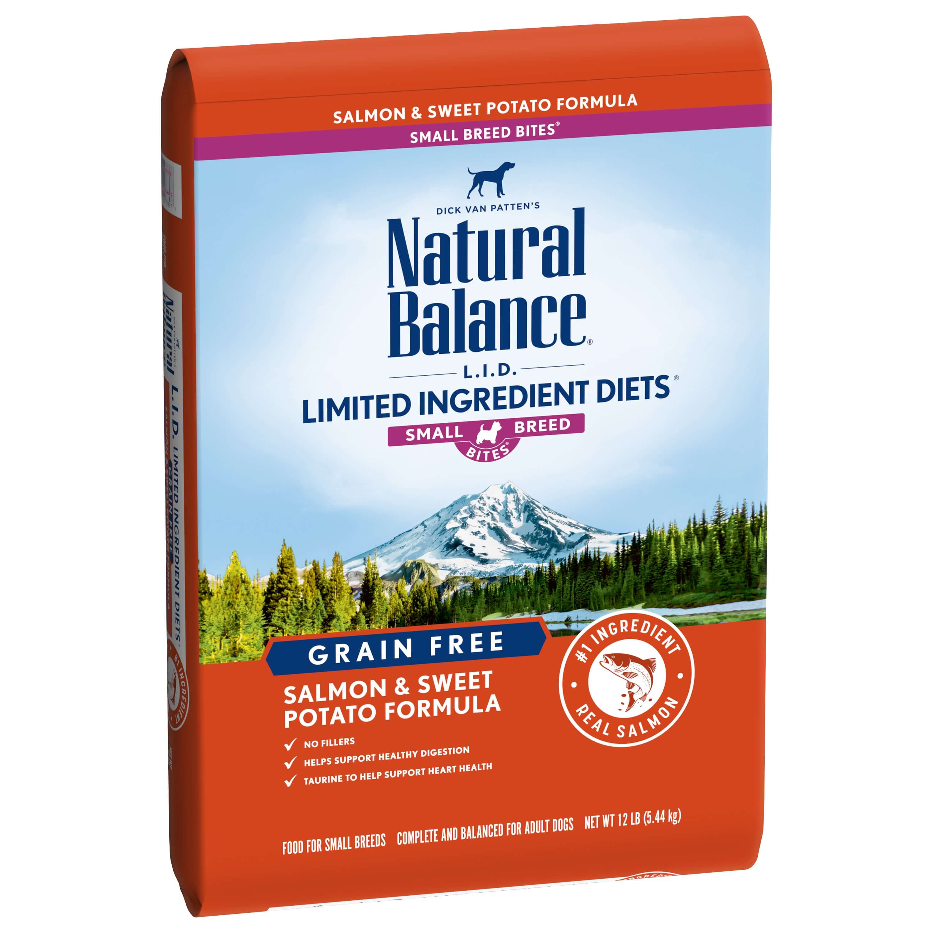 Natural Balance L.I.D. Limited Ingredient Diets Grain-Free Dry small Breed Dog Food, Salmon & Sweet Potato, 12-lb