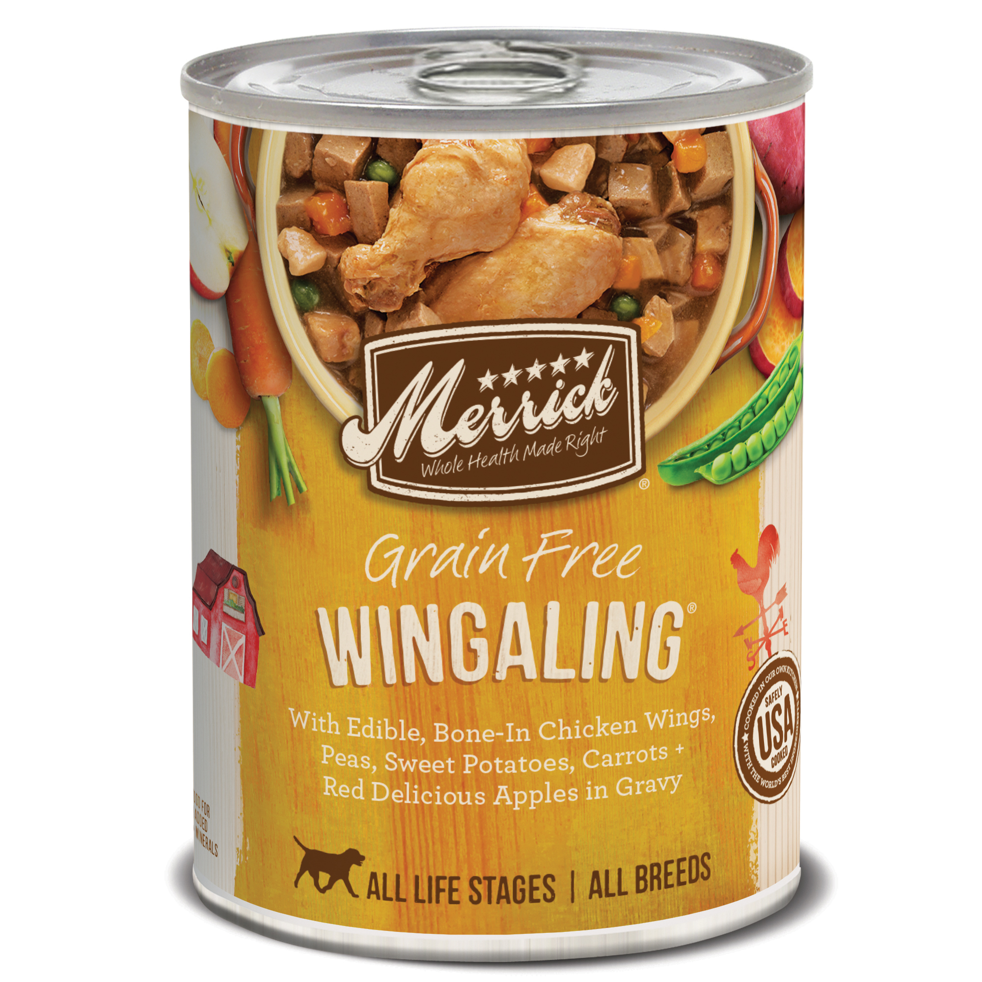 Merrick Grain-Free Wingaling Canned Dog Food, 12.7-oz