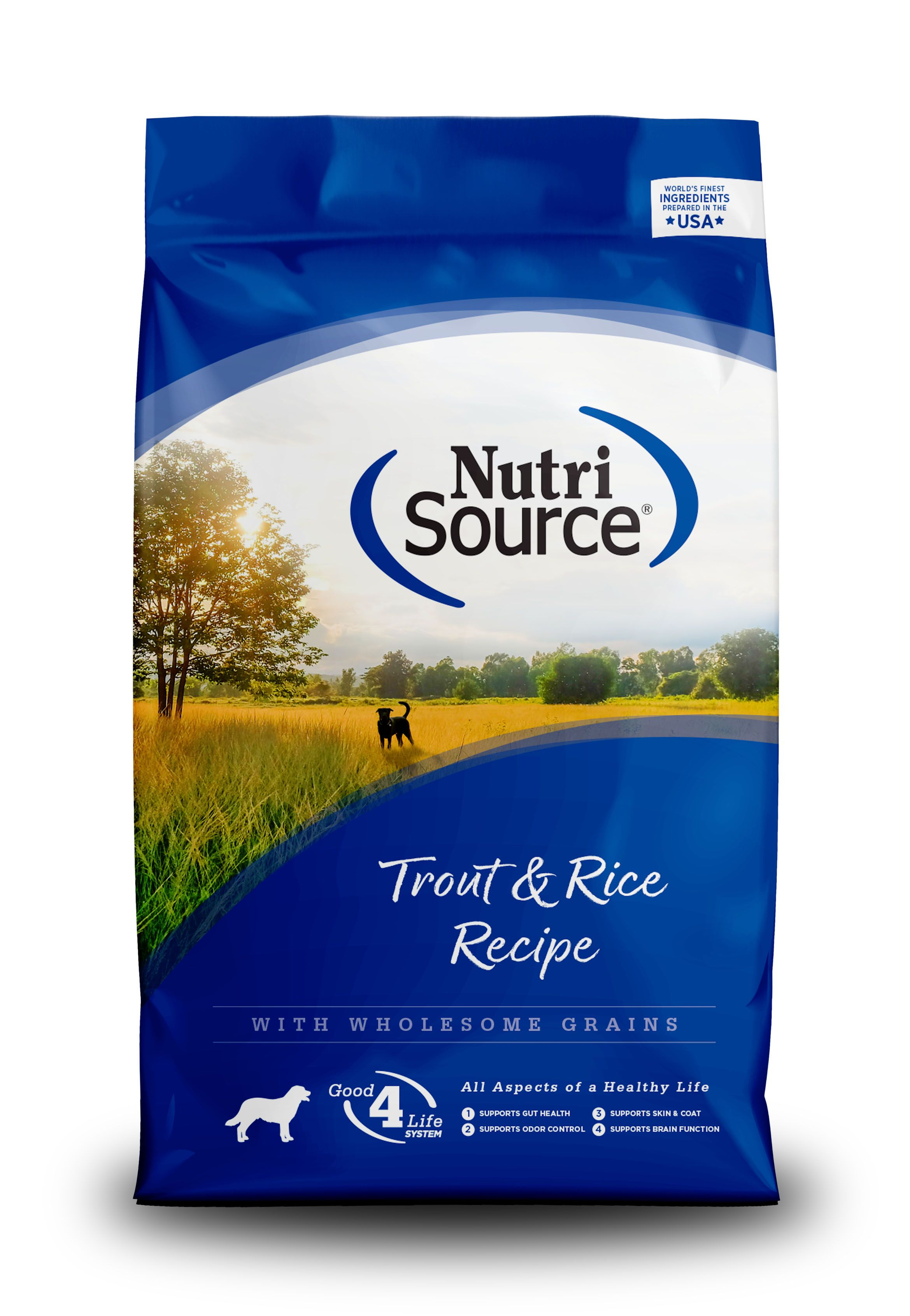 NutriSource Trout & Brown Rice Recipe Dry Dog Food, 5-lb