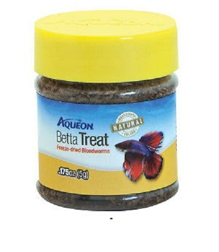 Aqueon Betta Bloodworm Fish Treat, .175-oz