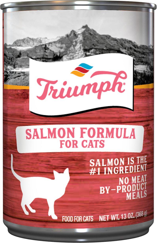 Triumph Salmon Formula Canned Cat Food, 13.2-oz
