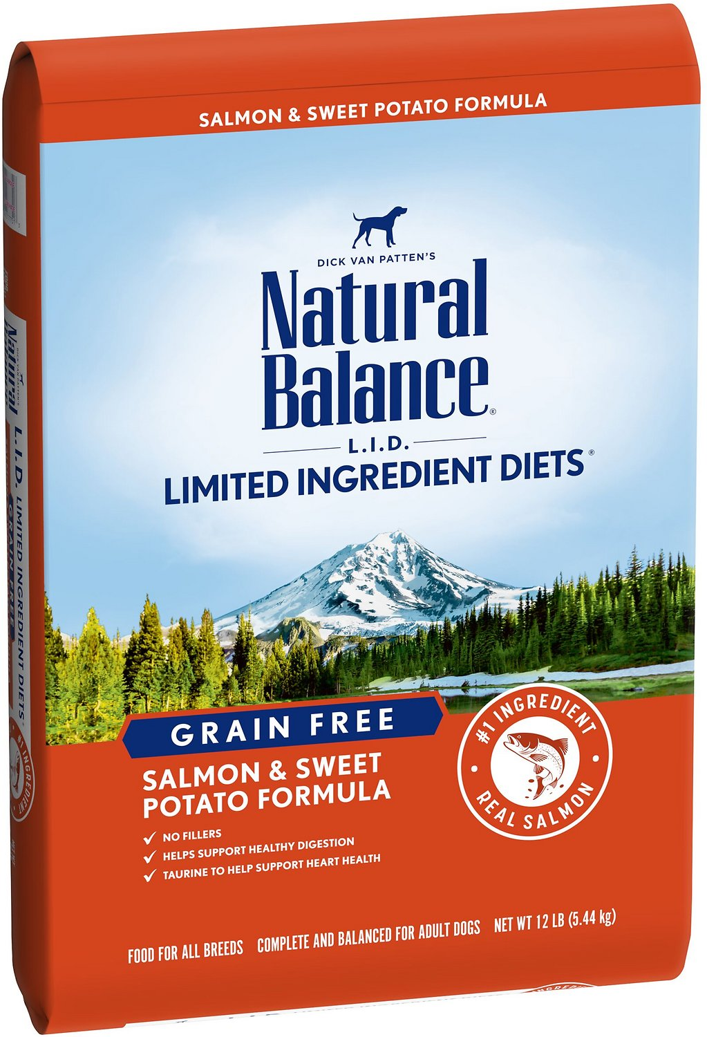 Natural Balance L.I.D. Limited Ingredient Diets Salmon & Sweet Potato Grain-Free Dry Dog Food, 12-lb