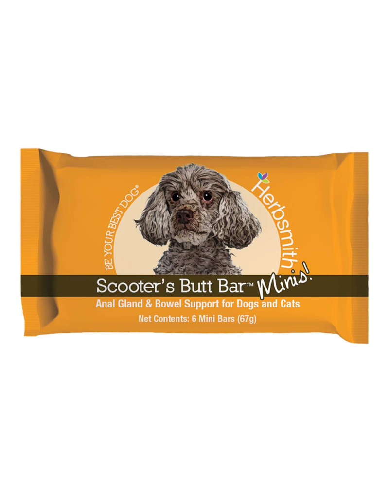 Herbsmith Scooter's Butt Bars Minis Anal Gland and Bowel Support for Dogs and Cats, 1-count