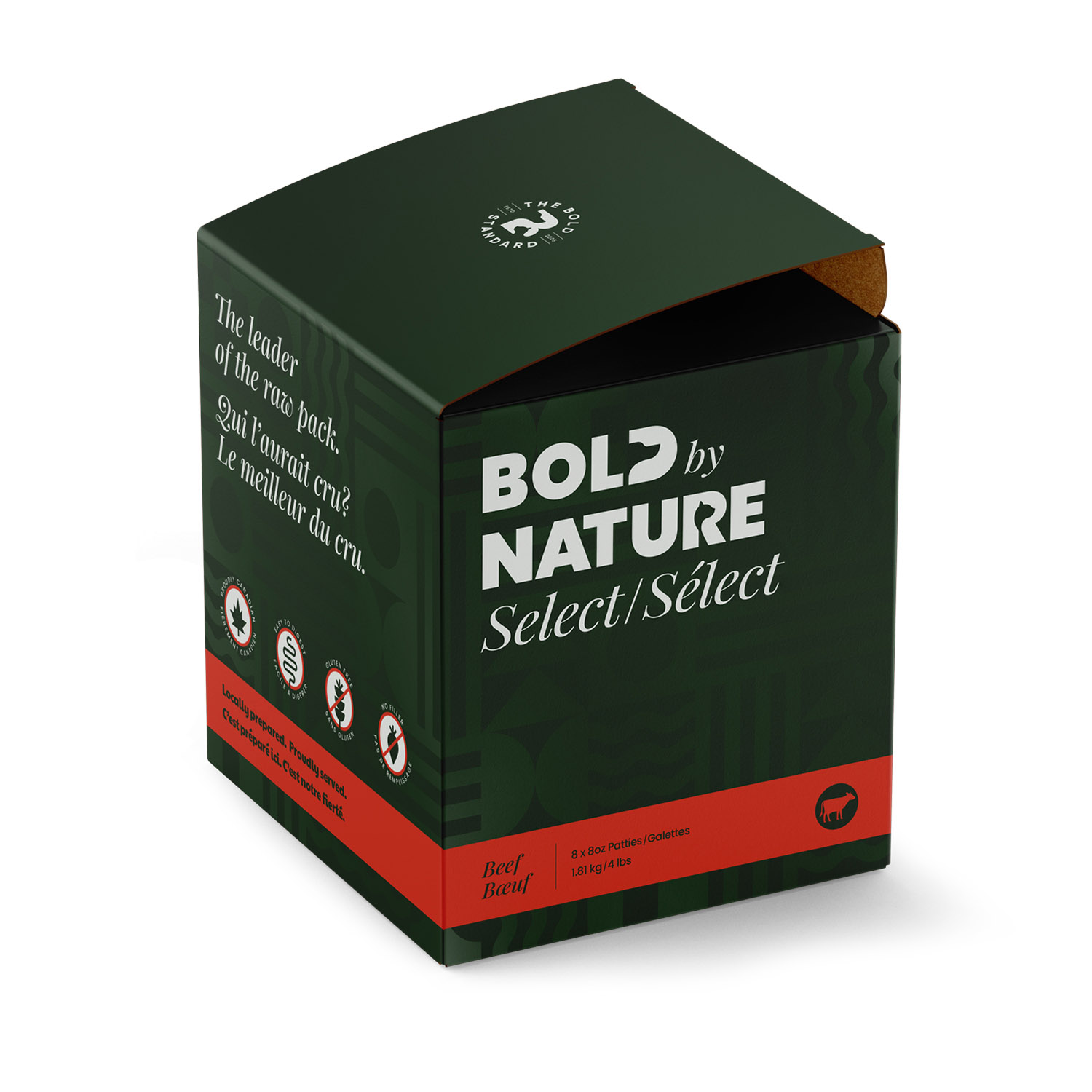 Bold by Nature Raw Beef Select Patties Image