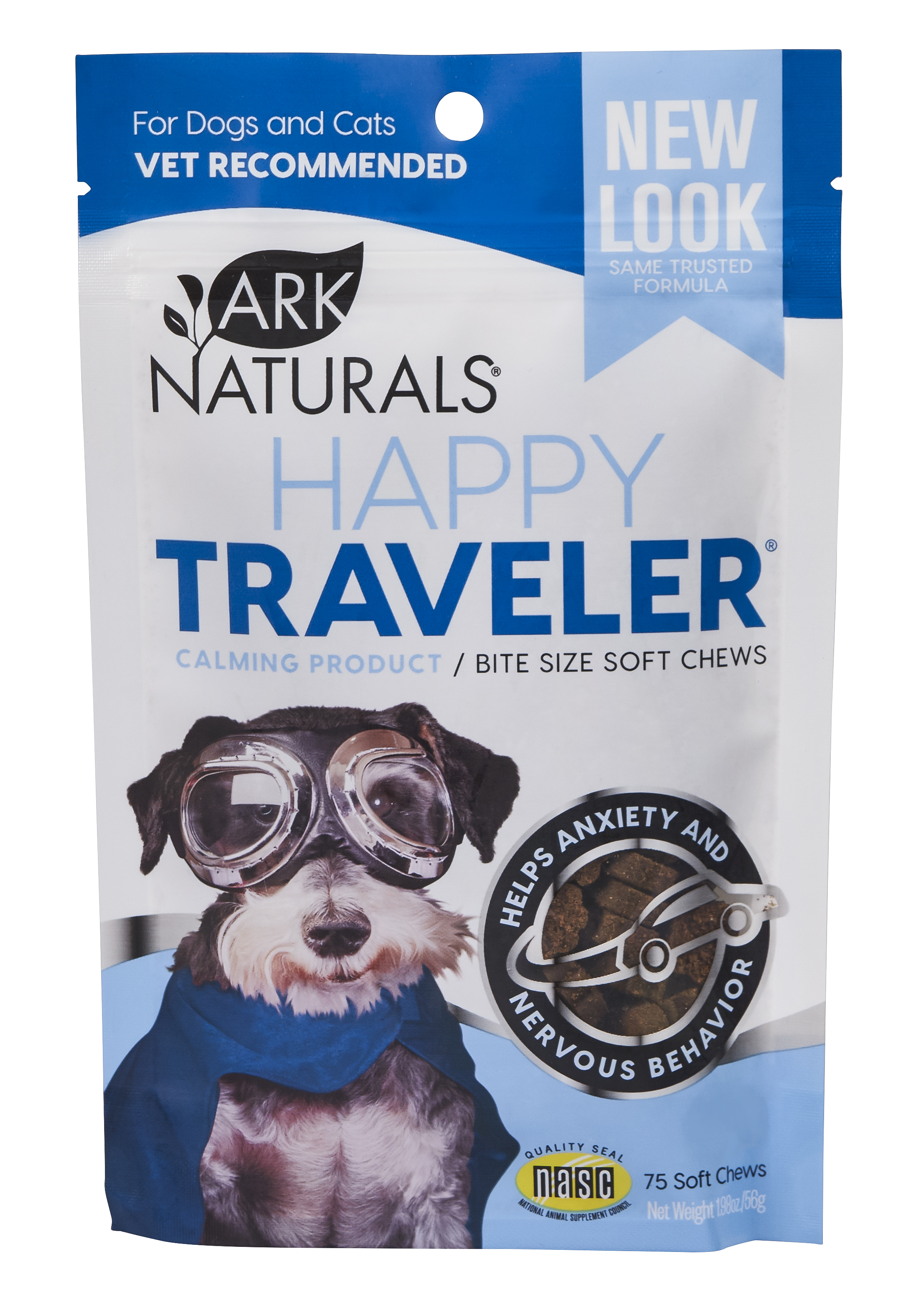 Ark Naturals Happy Traveler Dog & Cat Soft Chews, 75 count