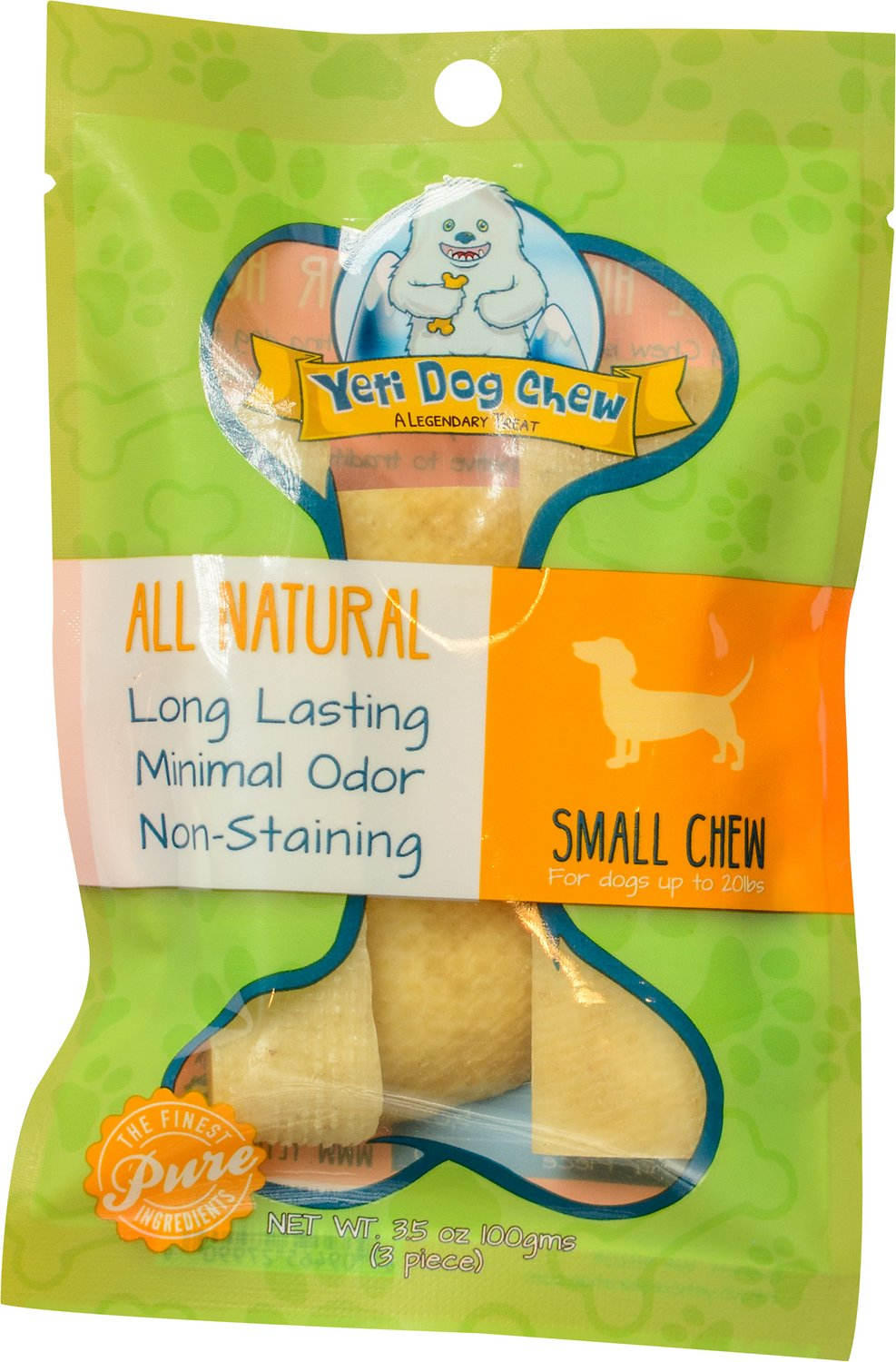 Yeti Dog Chew Small Himalayan Cheese Packaged Dog Treats, 3-count (Size: 3-count) Image