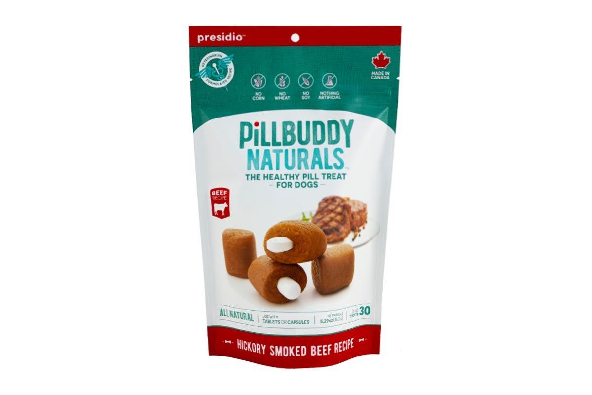 Presidio Pill Buddy Naturals Hickory Smoked Beef Pill Dog Treats, 5.29-oz