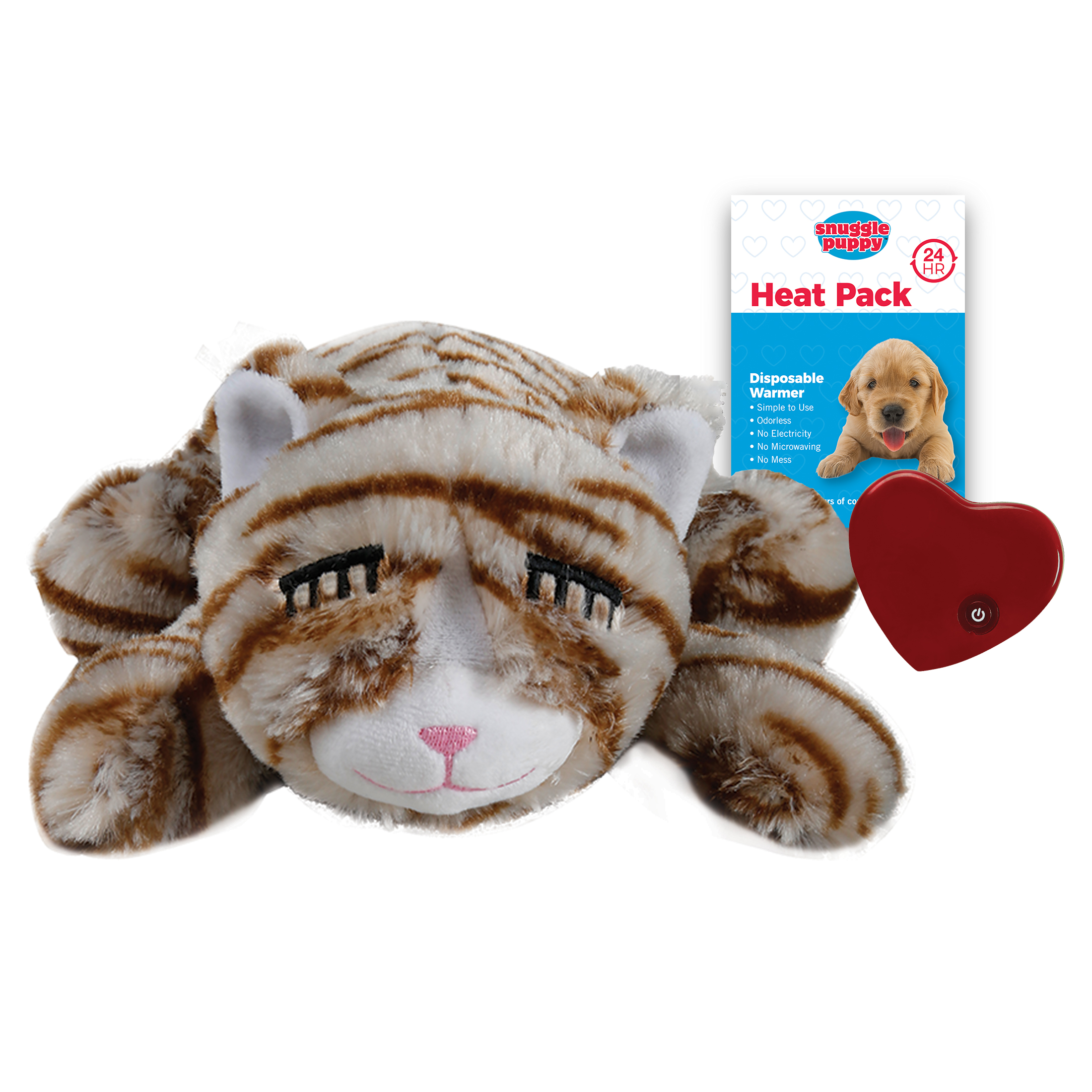 Smart Pet Love Snuggle Kitty Behavioral Aid Cat Toy, Tan Tiger (Weights: -) Image