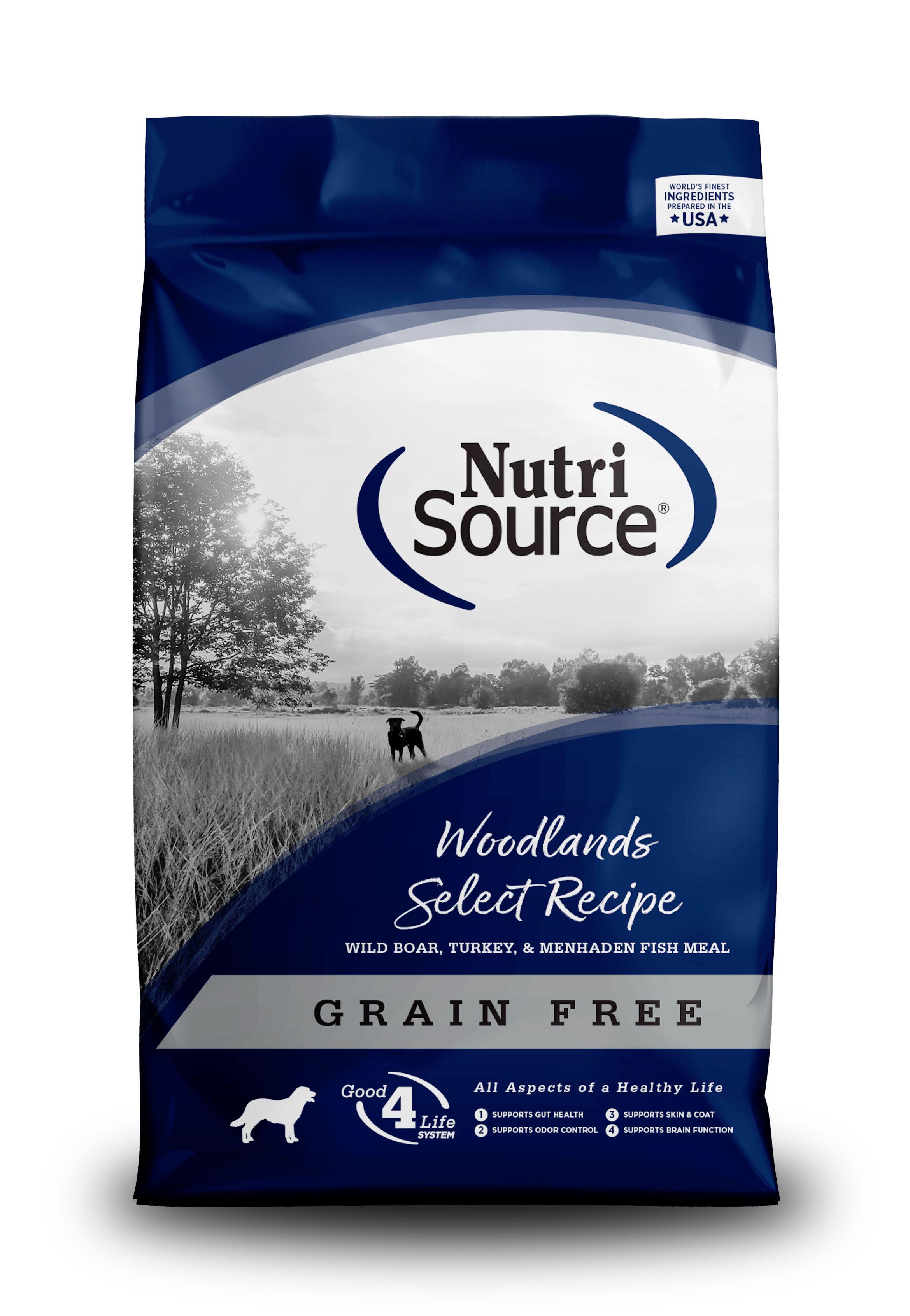 NutriSource Grain Free Woodlands Dry Dog Food, 30-lb