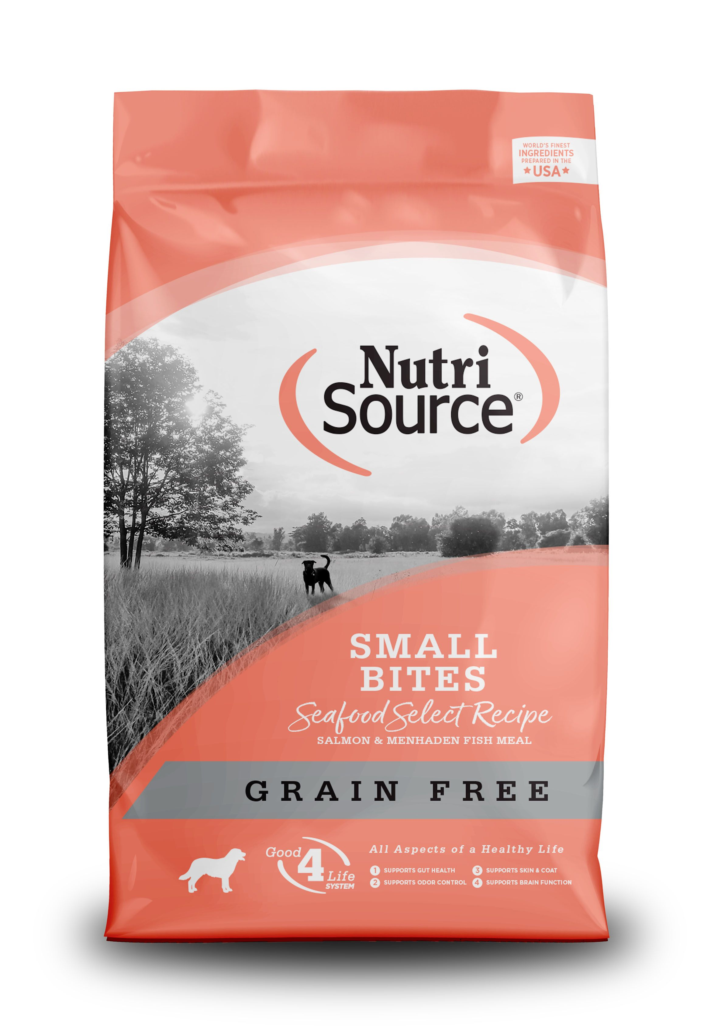 NutriSource Grain Free Small Breed Seafood Select Dry Dog Food, 5-lb