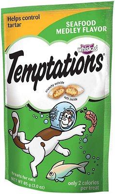Temptations Seafood Medley Flavor Cat Treats Image