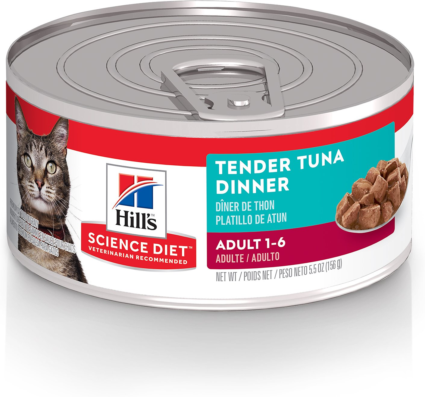 Hill's Science Diet Adult Tender Tuna Dinner Canned Cat Food, 5.5-oz