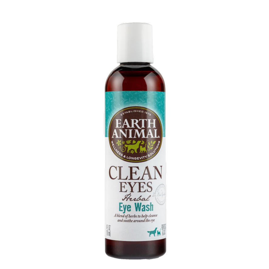Earth Animal Clean Eyes Herbal Eye Wash for Dogs & Cats 4-oz Bottle