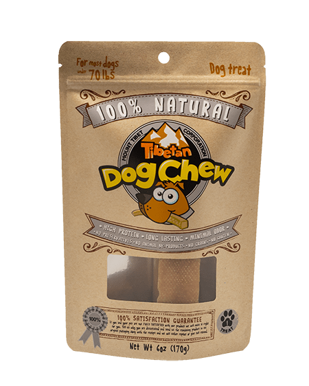 Tibetan Dog Chew Natural Cheese Dog Treats for Most dogs Under 70-lbs, 6-oz bag