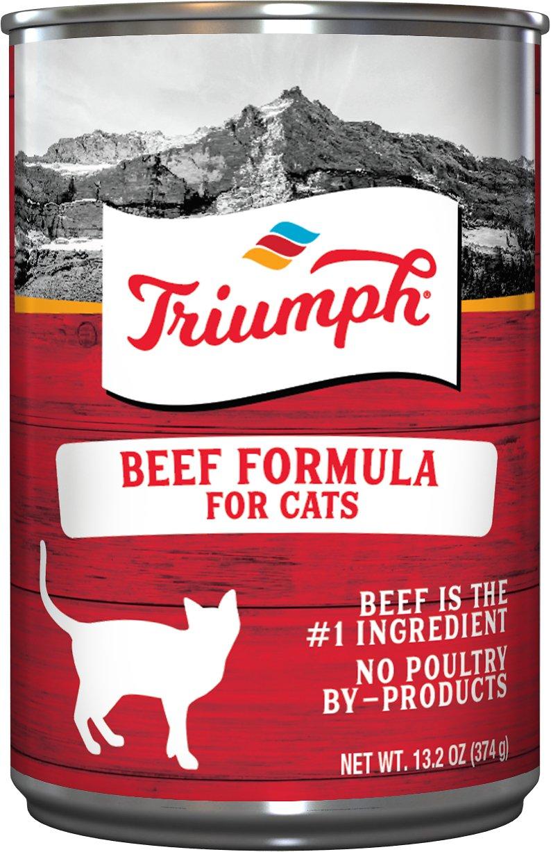 Triumph Beef Formula Canned Cat Food, 13.2-oz