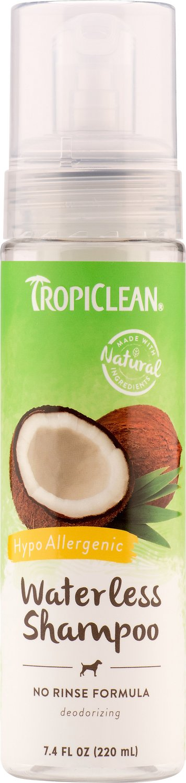 TropiClean Waterless Hypo Allergenic Dog & Cat Shampoo, 7.4-oz bottle