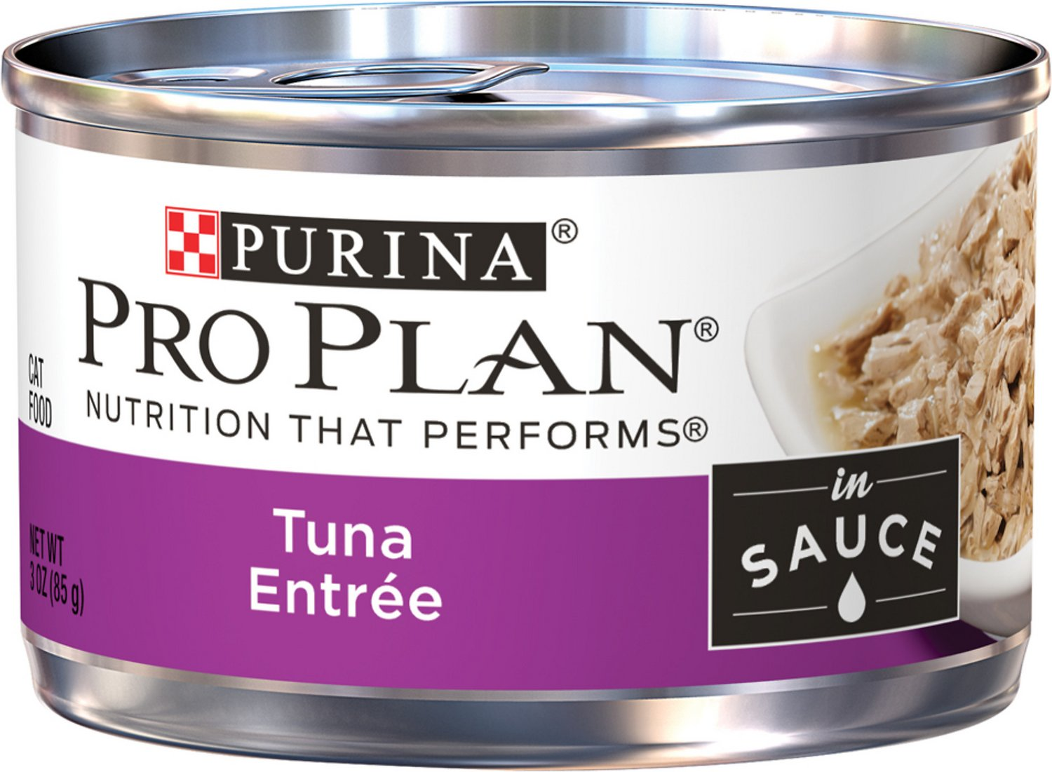 Purina Pro Plan Savor Adult Tuna Entree in Sauce Canned Cat Food, 3-oz