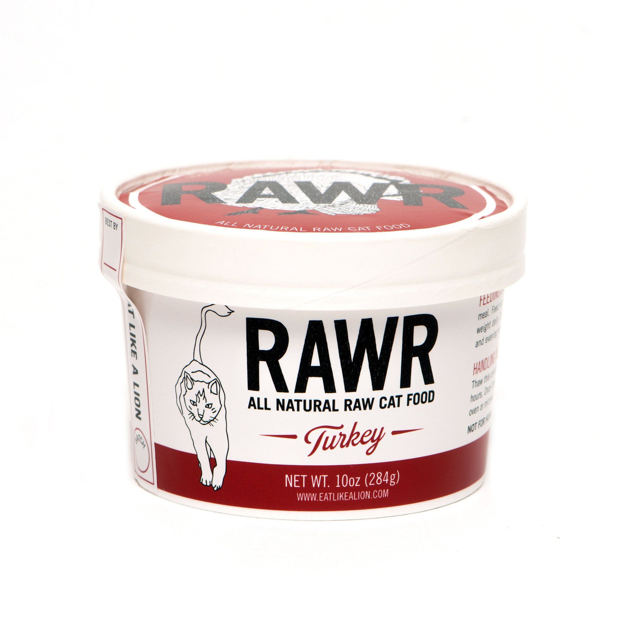 RAWR All Natural Turkey Raw Frozen Cat Food, 32-oz