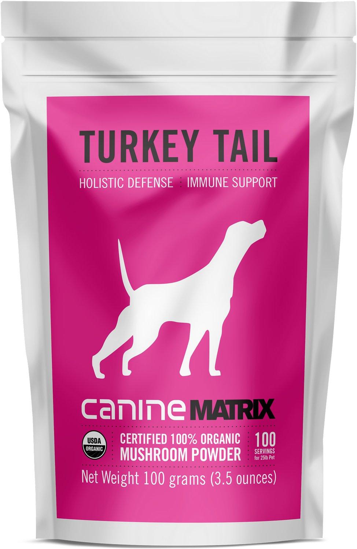 Canine Matrix Turkey Tail Holistic Defense Immune Support Dog Supplement, 100-g