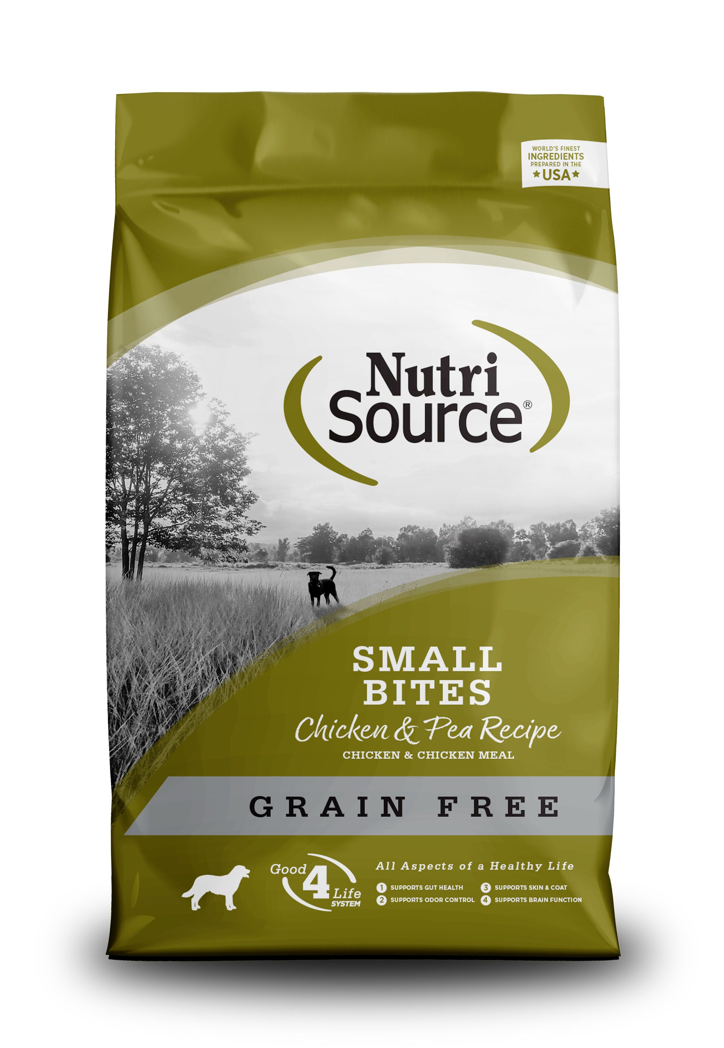 NutriSource Grain Free Small Breed Bites Chicken & Pea Recipe Dry Dog Food Image