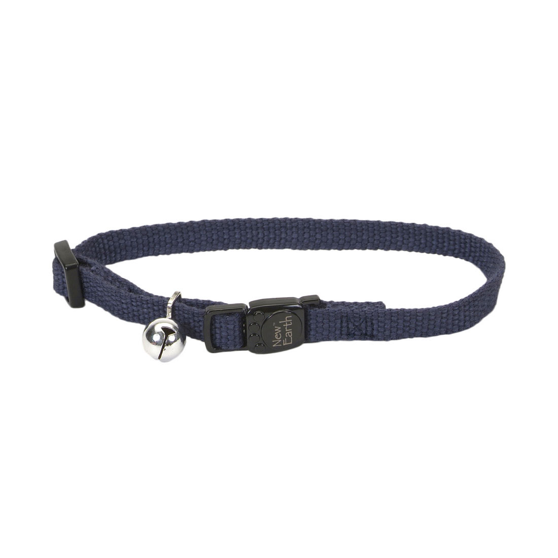 Coastal New Earth Soy Adjustable Breakaway Cat Collar, Indigo, 8-12-in (Size: 8-12-in) Image