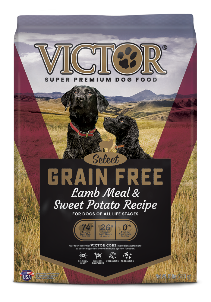 Victor Grain-Free Prairie Land Canine with Lamb Meal & Sweet Potato Dry Dog Food, 30-lb bag