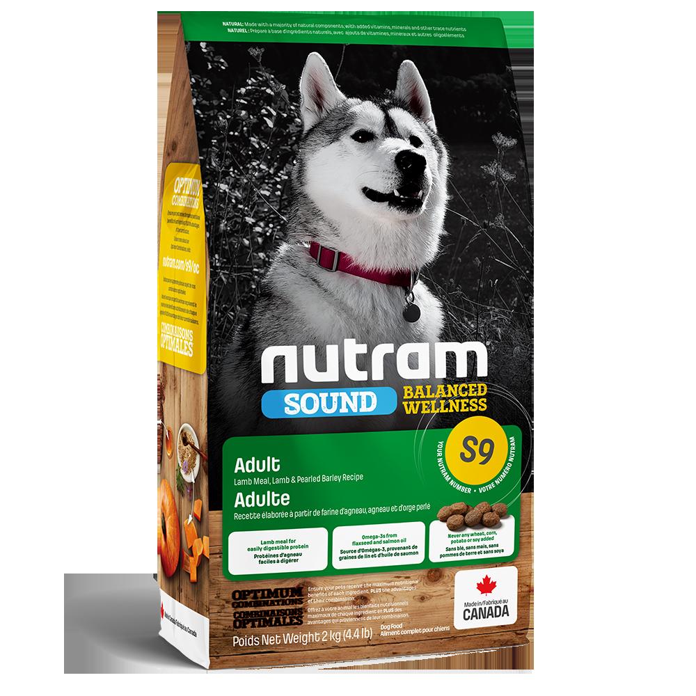 Nutram Sound S9 Balanced Wellness Adult Lamb Dog Food, 2-kg