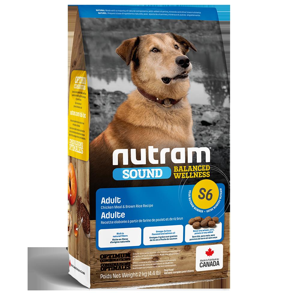 Nutram Sound S6 Balanced Wellness Adult Dog Food, 2-kg