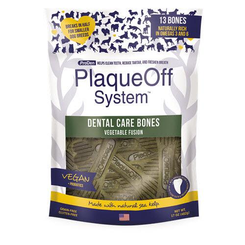ProDen PlaqueOff System Dental Care Bones Vegetable Fusion Flavor Dental Dog Chew, 17-oz Image